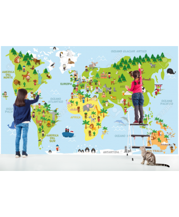 Fotomural Mapamundi infantil (Valor M2)