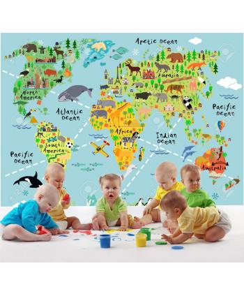 Fotomural Mapamundi infantil 6 (Valor M2)