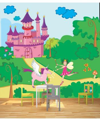 Fotomural castillo y princesa
