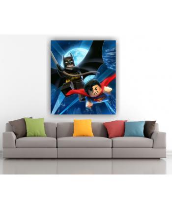 Retablo Lego Super man y Batman