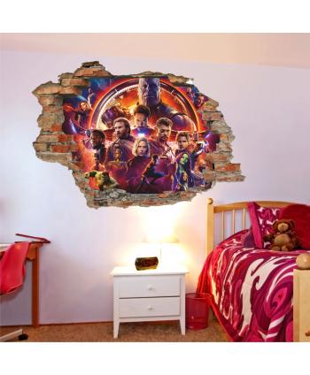 Pared rota pared avengers infinity war 2