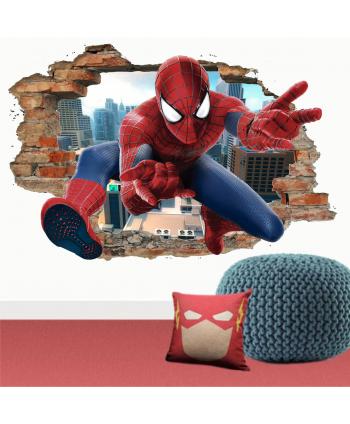 Pared rota Spiderman