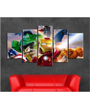 5 Retablos avengers Lego