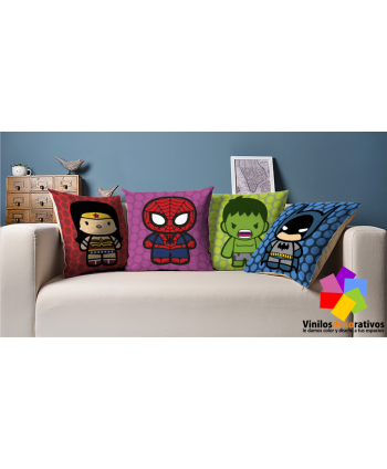 Cojines Superheroes 4