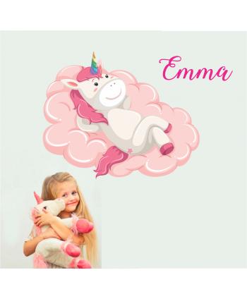 Unicornio en la nube (nombre personalizado)