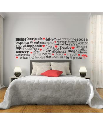 Palabras de amor 2 (35 palabras personalizadas)