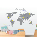Mapamundi Los viajes de...(Nombre personalizado)