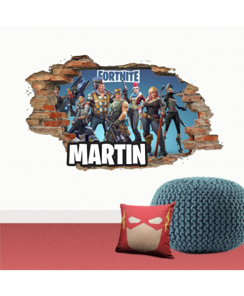 Pared Rota Fortnite B (nombre personalizado)